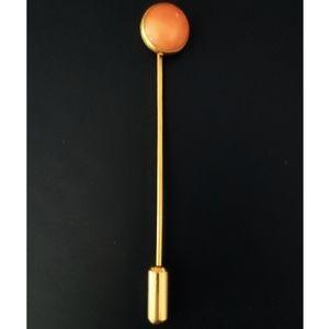 Vintage 14 Karat Gold Coral Stick Pin